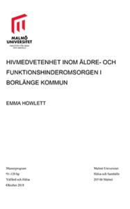 Hivmedvetenhet inom äldre- och funktionshinderomsorgen i Brolänge kommun